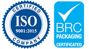 ISO 9001 2015 BRC Packaning Small logo Watershed Group Ireland logo