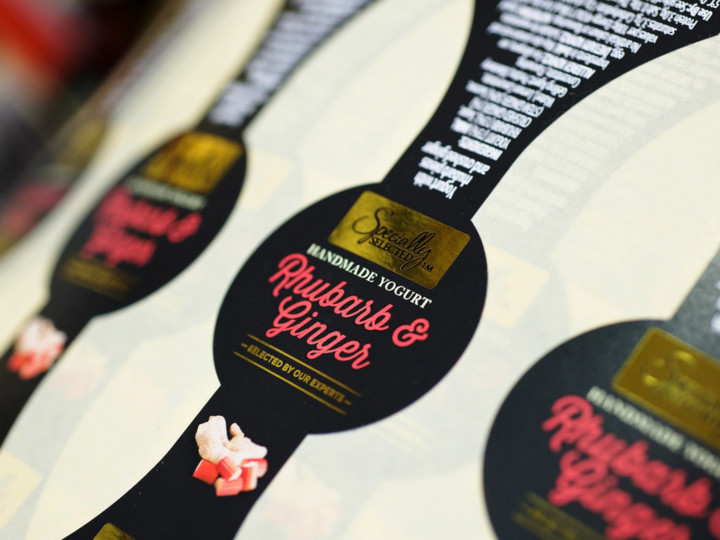 Watershed Group Self Adhesive/Pressure Sensitive Labels Rhubarb Yoghurt