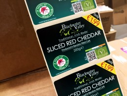 Watershed Group Self Adhesive/Pressure Sensitive Labels Blackwater Valley Cheddar