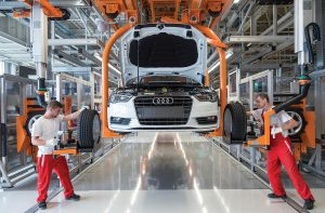 Watershed Group Men at Audi Production Line