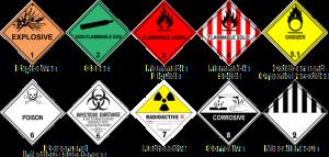 Watershed Group Self Adhesive Labels Hazard Diamonds