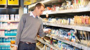 Watershed Group Man at Supermarket Shopping