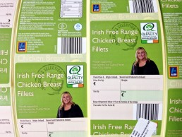 Watershed Group Self Adhesive/Pressure Sensitive C Wrap Labels Chicken Fillets
