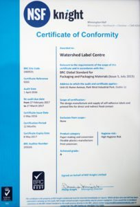 BRC Certification Letter