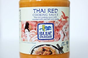 Watershed Group - Self Adhesive Food Labels Blue Dragon Thai Red Sauce Close Up