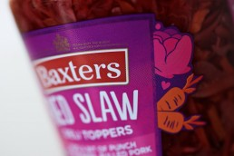Watershed Group - Self Adhesive Food Labels Baxters Red Slaw Close Up