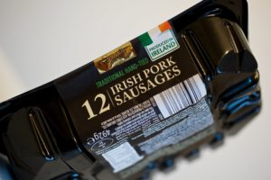 Watershed Group - Self Adhesive/Pressure Sensitive Labels Pork Sausages Side View