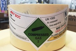 Watershed Group Self Adhesive/Pressure Sensitive BOC Gas Labels