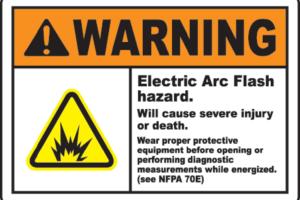 Arc Hazard Hazardous Warning Label