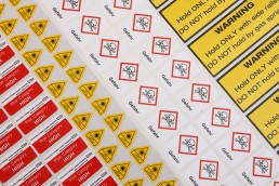Various Hazard Warning Labels