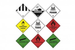 Hazard Warning Diamond Labels