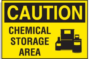 Chemical Storage Hazard Hazardous Warning Label